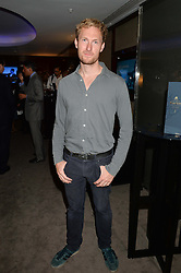 The UK Premier of Johnnie Walker Blue Label's 'Gentleman's Wager' - a short film starring Jude Law was held at The Bulgari Hotel & Residences, 171 Knightsbridge, London on 22nd July 2014.<br /> Picture Shows:-SAM HOARE.