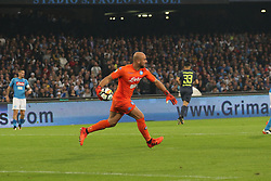 October 21, 2017 - Napoli, Campania/Napoli, Italy - Action during soccer match between SSC Napoli  and  F.C.Inter    at San Paolo  Stadium in Napoli .final result Napoli vs. F.C.Inter 0-0.In picture Pepe Reina,goalkeeper  (Credit Image: © Salvatore Esposito/Pacific Press via ZUMA Wire)