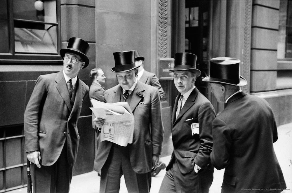 Outside Stock Exchange, London, 1937