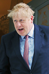 Conservative party leadership contender Boris Johnson leaving his home in south London.