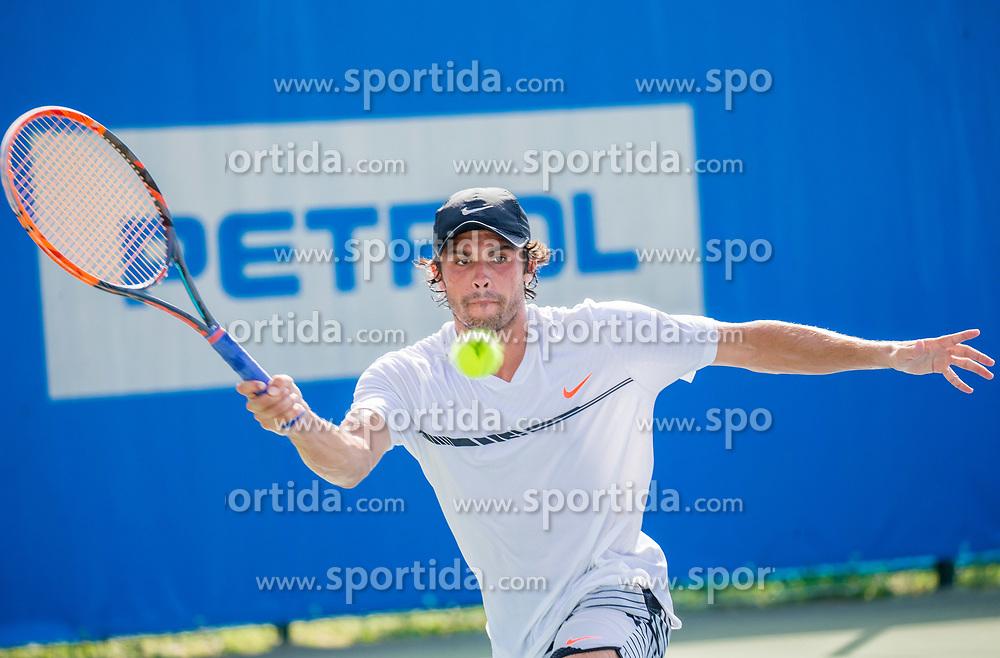 Jaime Fermosell Delgado (ESP) plays against Ilya Ivashka (BLR) at ATP Challenger Zavarovalnica Sava Slovenia Open 2017, on August 9, 2017 in Sports centre, Portoroz/Portorose, Slovenia. Photo by Vid Ponikvar / Sportida