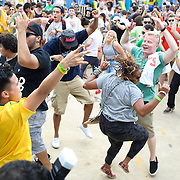 WASHINGTON, DC - August 11th, 2012 -  Crowd members dance during a performance by David Heartbreak at the  Trillectro Festival at the Half Street Fairgrounds in Washington, D.C. (Photo by Kyle Gustafson/For The Washington Post)