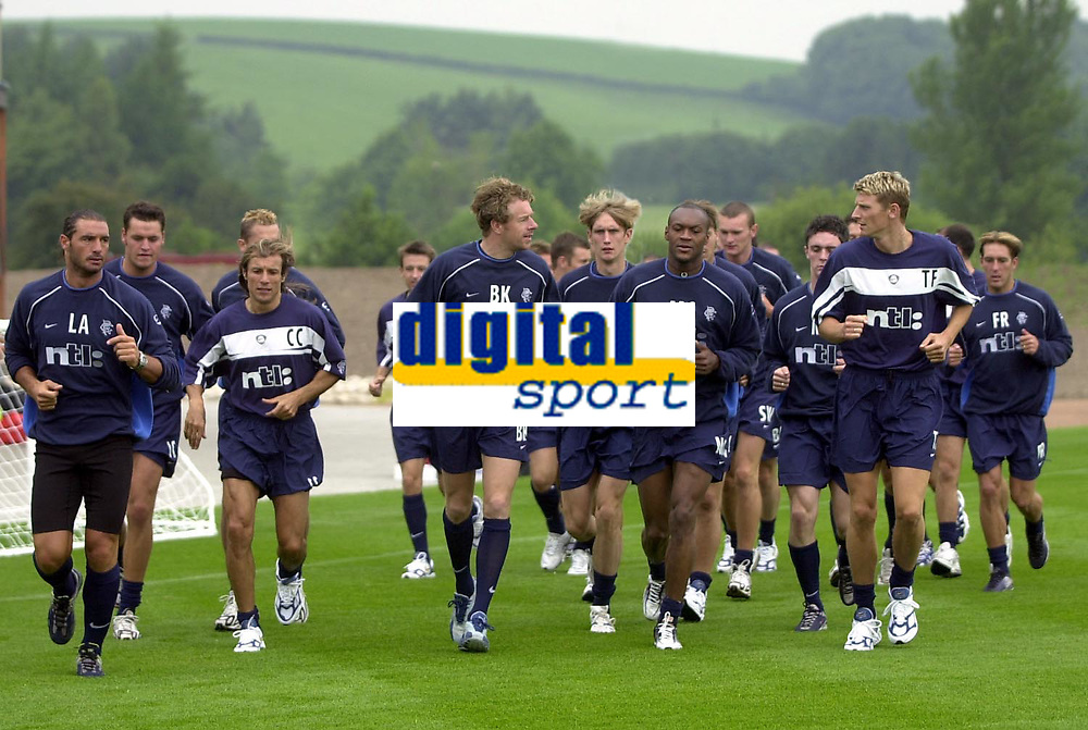 Rangers pre season training at new Auchenhowie complex on outskirts of Glasgow.<br />