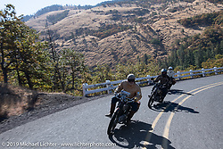Motorcycle Cannonball coast to coast vintage run. Stage 15  (51 miles - the Grand Finish) from The Dalles to Stevenson, OR. Sunday September 23, 2018. Photography ©2018 Michael Lichter.