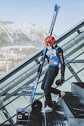 31.12.2020, Olympiaschanze, Garmisch Partenkirchen, GER, FIS Weltcup Skisprung, Vierschanzentournee, Garmisch Partenkirchen, Qualifikation, Herren, im Bild David Siegel (GER) // David Siegel of Germany during qualification jump of men's Four Hills Tournament of FIS Ski Jumping World Cup at the Olympiaschanze in Garmisch Partenkirchen, Germany on 2020/12/31. EXPA Pictures © 2020, PhotoCredit: EXPA/ JFK