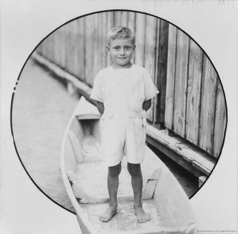 Mussolini children: Bruno Mussolini, 1924