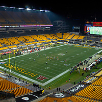 The Cleveland Browns won the AFC Wild Card game against the Pittsburgh Steelers 48 - 37 in a nearly empty Heinz Field in Pittsburgh on Sunday, January 10, 2021.  Photo by Archie Carpenter/UPI