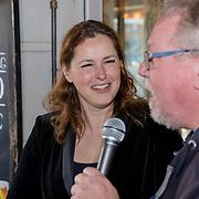NLD/Amsterdam/20190509 - Audiodrama De Kriminalist aan Anniko van Santen, Aniko van Santen en scriptschrijver: Dick van den Heuvel