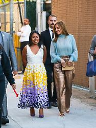 Yalitza Aparicio is seen arriving at 'Jimmy Kimmel Live' in Los Angeles, California. 19 Dec 2018 Pictured: Marina de Tavira,Yalitza Aparicio. Photo credit: BG017/Bauergriffin.com / MEGA TheMegaAgency.com +1 888 505 6342