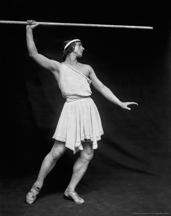 Michel Fokine as Daphnis from 'Daphnis and Chloe', London, England, 1914
