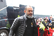 Wolverhampton Wanderers manager Nuno Espirito Santo arrives at the The FA Cup fourth round match between Shrewsbury Town and Wolverhampton Wanderers at Greenhous Meadow, Shrewsbury, England on 26 January 2019.