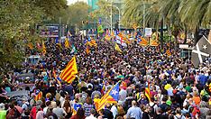 Catalonia celebrates Vote - 27 Oct 2017