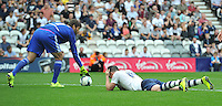 Preston North End's Joe Garner can't believe he didn't score in the final move of the game <br /> <br /> Photographer Dave Howarth/CameraSport<br /> <br /> Football - The Football League Sky Bet Championship - Preston North End v Middlesbrough -  Sunday 9th August 2015 - Deepdale - Preston<br /> <br /> © CameraSport - 43 Linden Ave. Countesthorpe. Leicester. England. LE8 5PG - Tel: +44 (0) 116 277 4147 - admin@camerasport.com - www.camerasport.com