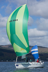 Pelle P Kip Regatta 2019 Day 1<br /> <br /> Light and bright conditions for the opening racing on the Clyde keelboat season<br /> <br /> GBR9963 , First By Farr , Ian McNair , CCC, First 45F5.