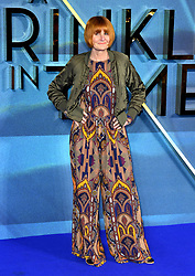 Mary Portas attending the A Wrinkle in Time European Premiere held at the BFI IMAX in Waterloo, London. Photo credit should read: Doug Peters/EMPICS Entertainment