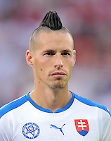 2016.06.20 Saint Etienne<br /> Pilka nozna Euro 2016<br /> mecz grupy B Slowacja - Anglia<br /> N/z Marek Hamsik<br /> Foto Norbert Barczyk / PressFocus<br /> <br /> 2016.06.20 Saint Etienne<br /> Football UEFA Euro 2016 group B game between Slovakia and England<br /> Marek Hamsik<br /> Credit: Norbert Barczyk / PressFocus