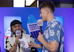 Jax Jones in the on air studio during Capital's Summertime Ball. The world's biggest stars perform live for 80,000 Capital listeners at Wembley Stadium at the UK's biggest summer party.
