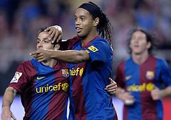 03-03-2007 VOETBAL: SEVILLA FC - BARCELONA: SEVILLA  <br /> Sevilla wint de topper met Barcelona met 2-1 / Ronaldinho scoort de 1-0<br /> ©2006-WWW.FOTOHOOGENDOORN.NL