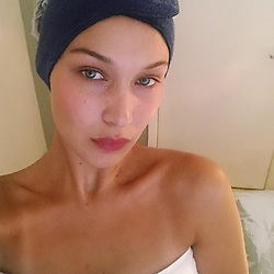 """Bella Hadid releases a photo on Instagram with the following caption: """"Silence\ud83d\ude4f\ud83c\udffc\ud83d\udc86\ud83c\udffb\ud83d\ude0d"""". Photo Credit: Instagram *** No USA Distribution *** For Editorial Use Only *** Not to be Published in Books or Photo Books ***  Please note: Fees charged by the agency are for the agency's services only, and do not, nor are they intended to, convey to the user any ownership of Copyright or License in the material. The agency does not claim any ownership including but not limited to Copyright or License in the attached material. By publishing this material you expressly agree to indemnify and to hold the agency and its directors, shareholders and employees harmless from any loss, claims, damages, demands, expenses (including legal fees), or any causes of action or allegation against the agency arising out of or connected in any way with publication of the material."""