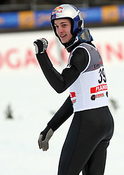Gregor Schlierenzauer, the winner of e.on Ruhrgas FIS World Cup Ski Jumping on K215 ski flying hill, on March 14, 2008 in Planica, Slovenia . (Photo by Vid Ponikvar / Sportal Images)./ Sportida)