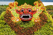 Mask at Ulun Danu Beratan Temple, Bali, Indonesia
