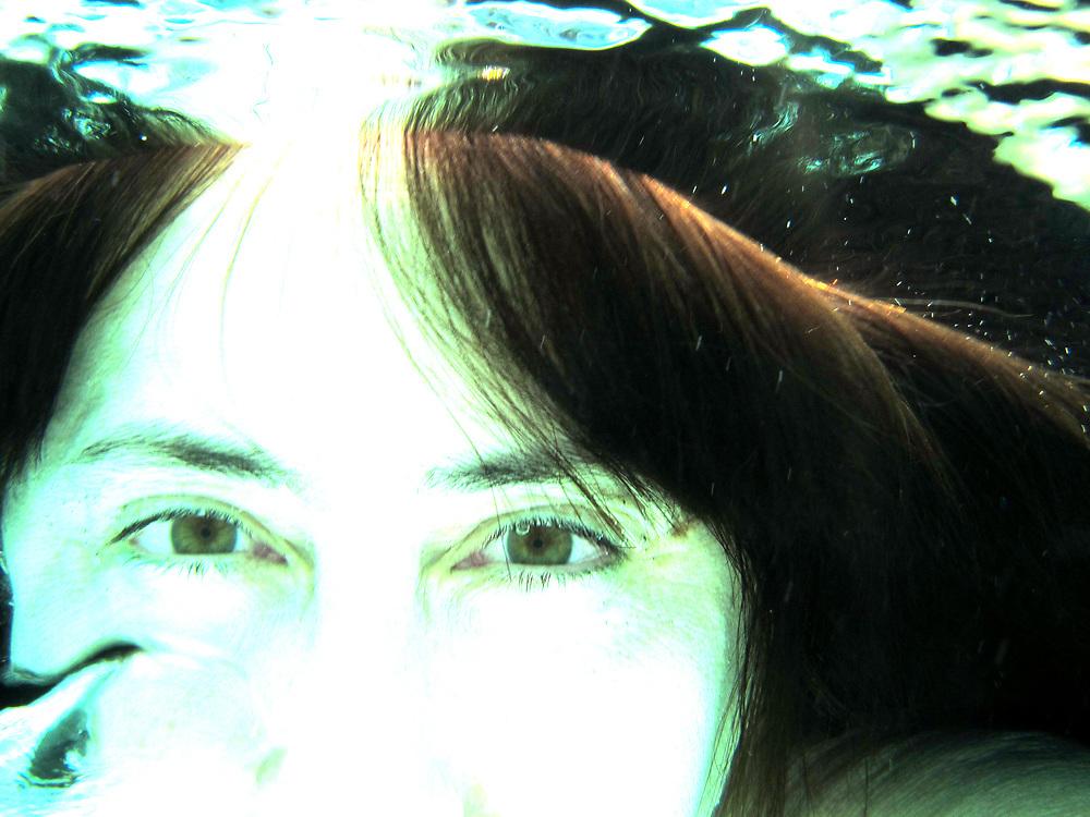 Underwater self portrait series, summer 2010, Houston, Texas