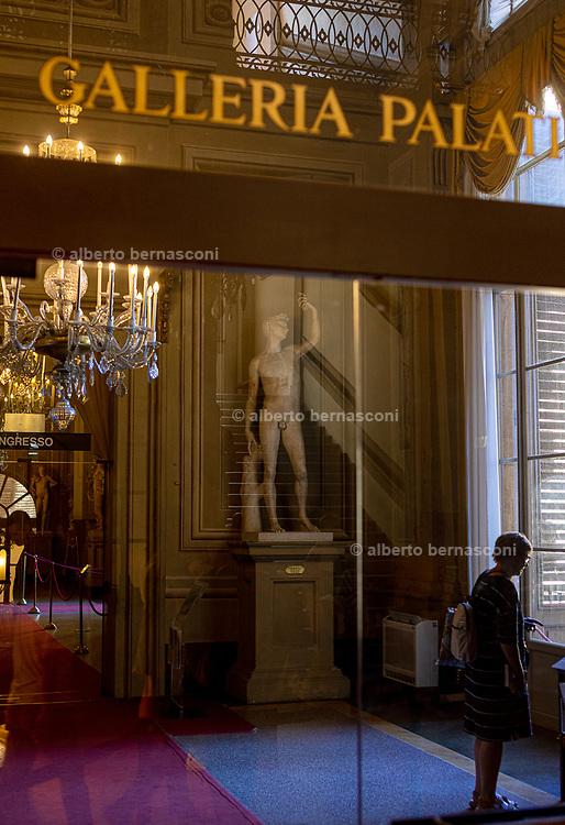 FLORENCE: the entrance at Palazzo Pitti