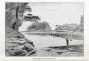 Awazi Shima, on the Inland Sea [Awaji Island (Awaji-shima) is an island in Hyogo Prefecture, Japan, in the eastern part of the Seto Inland Sea It is the largest island of the Seto Inland Sea]. from the book ' Rambles in Japan : the land of the rising sun ' by Tristram, H. B. (Henry Baker), 1822-1906. Publication date 1895. Publisher New York : Revell