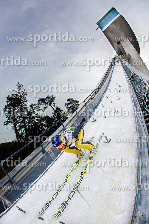 03.01.2014, Bergisel Schanze, Innsbruck, AUT, FIS Ski Sprung Weltcup, 62. Vierschanzentournee, Training, im Bild Maciej Kot (POL) // Maciej Kot (POL) during practice Jump of 62nd Four Hills Tournament of FIS Ski Jumping World Cup at the Bergisel Schanze, Innsbruck, <br /> Austria on 2014/01/03. EXPA Pictures © 2014, PhotoCredit: EXPA/ JFK