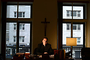 MANHATTAN, NY - JUNE 27, 2013: Father Matt Malone, S.J., Editor in Chief of America magazine, is seen in his office in Manhattan, NY. 6/27/2013 (Photo by ©Jennifer S. Altman/For The Washington Post)