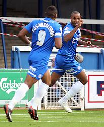 Peterborough United's Tyrone Barnett celebrates - Photo mandatory by-line: Joe Dent/JMP - Tel: Mobile: 07966 386802 05/10/2013 - SPORT - FOOTBALL - London Road Stadium - Peterborough - Peterborough United V Preston North End - Sky Bet League 1