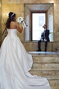 Wedding couple in Lotte Palace NY
