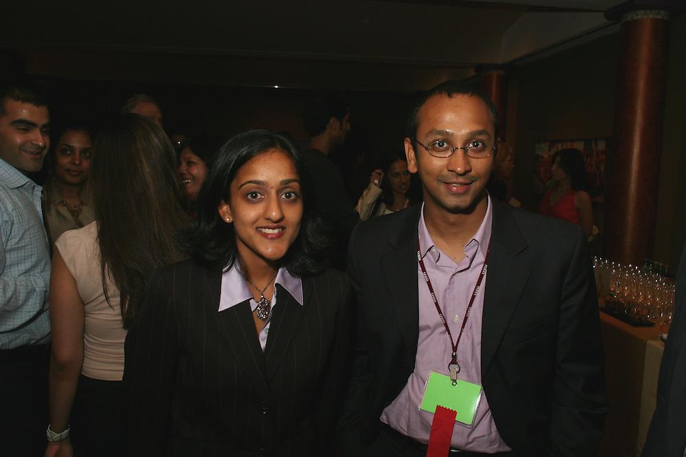 Vanita Gupta, NAACP Legal Defense Fund lawyer, and Vikas Bajaj, SAJA VP and convention chair, at the opening reception at the Rubin Museum of Art