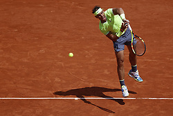 May 29, 2019 - Paris, France - Spain's Rafael Nadal plays during his men's singles second round match against Germany's Yannick Maden on day four of The Roland Garros 2019 French Open tennis tournament in Paris on May 29, 2019. (Credit Image: © Mehdi Taamallah/NurPhoto via ZUMA Press)