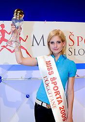 Winner Ajda Sitar at event Miss Sports of Slovenia, on April 18, 2009, in Festivalna dvorana, Ljubljana, Slovenia. (Photo by Ales Oblak / Sportida)