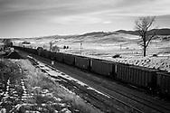 Empty coal cars heading into Powder River Basin