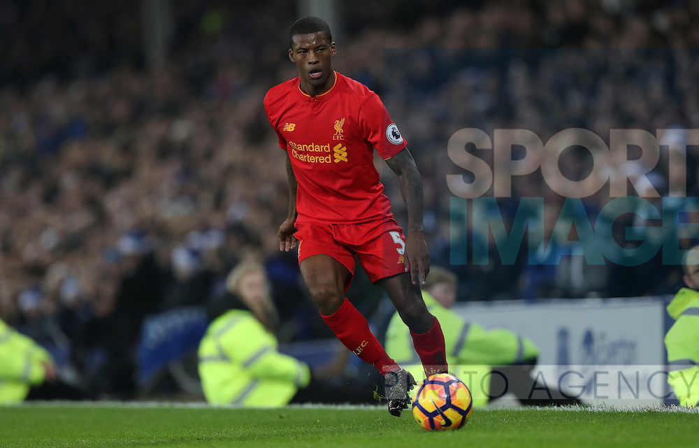 Georginio Wijnaldum of Liverpool during the English Premier League match at Goodison Park, Liverpool. Picture date: December 19th, 2016. Photo credit should read: Lynne Cameron/Sportimage