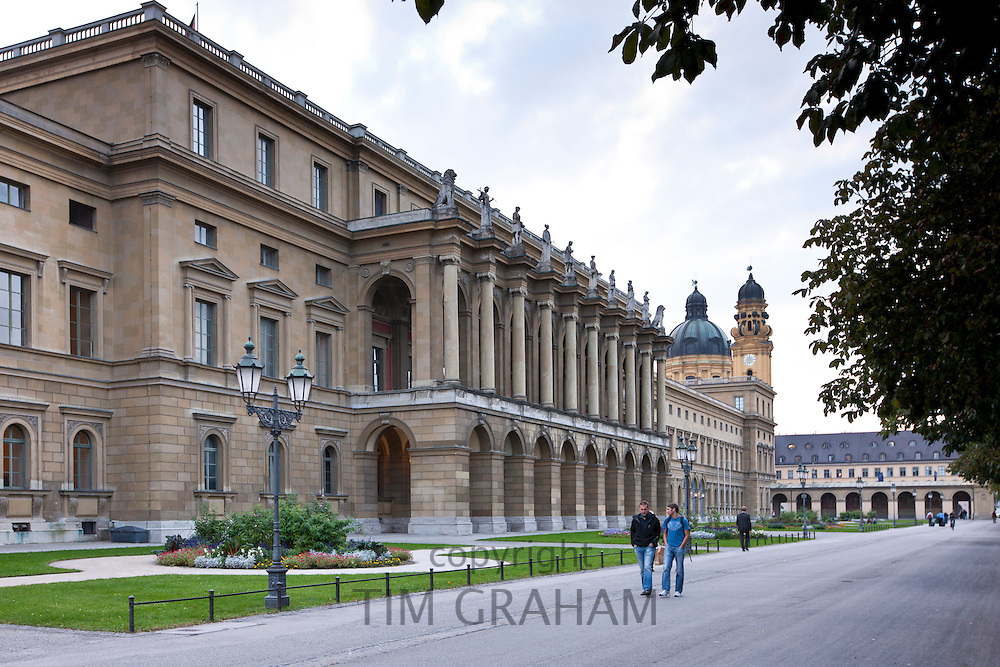 Brunnenhof Residence, Brunnenhof Residenz, in old Munich, Bavaria, Germany