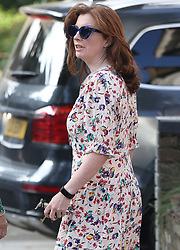 © Licensed to London News Pictures. 26/06/2021. London, UK. Martha Hancock, wife of Health Secretary Matt Hancock leaves home still wearing her wedding ring. It is being reported that the health secretary has been in a relationship with an aide. Photo credit: Ben Cawthra/LNP