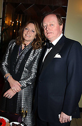 LEONORA, COUNTESS OF LICHFIELD and ANDREW PARKER BOWLES at 'A Rout' an evening of late evening party, essentially of revellers in aid of the Great Ormond Street Hospital Children's Charity and held at Claridge's, Brook Street, London W1 on 25th January 2005.<br />