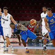 Ukraine's Steven BURTT (C), Maksym VILKHOVETSKYI (R) and New Zeland's Kirk PENNEY (L) during their Istanbul CUP 2011match played Ukraine between New Zeland at Abdi Ipekci Arena in Istanbul, Turkey on 25 August 2011. Photo by TURKPIX