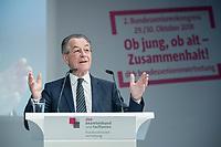 30 OCT 2018, BERLIN/GERMANY:<br /> Franz Muentefering, SPD, Vorsitzender der Bundesarbeitsgemeinschaft der Senioren- Organisationen – BAGSO und Bundesminister a.D., 2. dbb Bundesseniorenkongress, dbb Forum Berlin<br /> IMAGE: 20181030-01-084<br /> KEYWORDS: Franz Müntefering