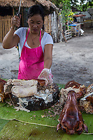 Lechon at Malatapay Market - Wednesdays at Malatapay Market are always abuzz with activity. It is a place where livestock growers, local farmers and fishermen converge to sell their fresh produce. It is a whole day fair for the townspeople, shoppers and visitors. Locals from neighboring towns also take part in the market day.  Malatapay provides an experience of the traditional Filipino barter system because the locals trade goods within themselves and with vendors who hail from the nearby Apo Island and those who live in the next towns. On other days, Malatapay is an oddly quiet place with not even a hint of activity going on. The market's exclusive mid week only schedule always makes it something to look forward to for everybody.