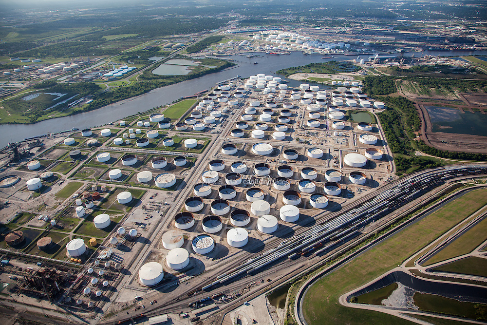 Storage yard along the Houston Ship Channel