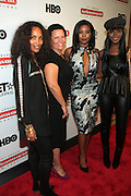 September 20, 2012- New York, New York:  (L-R) Televison Writer/Producer Mara Brock Akil, Debra Lee, President & CEO, BET Networks, Actress Gabrielle Union and Actress Tika Sumpter attend the 2012 Urbanworld Film Festival Opening night premiere screening of  ' Being Mary Jane ' presented by BET Networks held at AMC 34th Street on September 20, 2012 in New York City. The Urbanworld® Film Festival is the largest internationally competitive festival of its kind. The five-day festival includes narrative features, documentaries, and short films, as well as panel discussions, live staged screenplay readings, and the Urbanworld® Digital track focused on digital and social media. (Terrence Jennings)