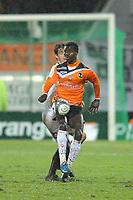FOOTBALL - FRENCH CHAMPIONSHIP 2009/2010 - L1 - FC LORIENT v FC SOCHAUX - 27/02/2010 - PHOTO PASCAL ALLEE / DPPI - JONAS SAKUWAHA (LORIENT)