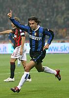 "Hernan Crespo (Inter) celebrates after scoring<br /> <br /> Hernan Crespo esulta dopo il gol<br /> <br /> Italian ""Serie A"" 2006-07<br /> <br /> 28 Oct 2006 (match 9)<br /> <br /> Milan Inter 3-4<br /> <br /> ""Giuseppe Meazza"" Stadium-Milano-Italy<br /> <br /> Photographer Andrea Staccioli  INSIDE"