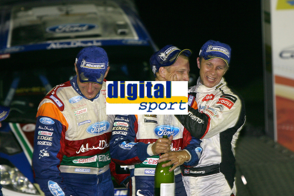 MOTORSPORT - WORLD RALLY CHAMPIONSHIP 2011 - AUSTRALIA RALLY - COFFS HARBOUR (AUS) - 8 TO 11/09/2011 - PHOTO: BASTIEN BAUDIN / DPPI - <br /> HIRVONEN MIKKO (FIN) - FORD FIESTA RS WRC - FORD ABU DHABI WORLD RALLY TEAM - AMBIANCE PORTRAIT SOLBERG PETTER (NOR) - CITROËN DS 3 WRC - PETTER SOLBERG WRT - AMBIANCE PORTRAIT