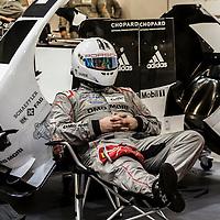 #18 Porsche garage at Le Mans 24H 2015