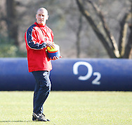 Picture by Andrew Tobin/Focus Images Ltd +44 7710 761829.08/02/2013.Stuart Lancaster, Head Coach of England during a Training at Pennyhill Park, Bagshot.